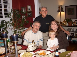Uncle Ray, my Dad, Clare and Me